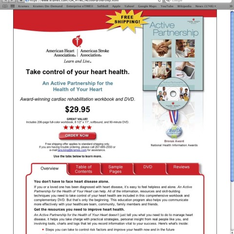 American Heart Association Web Page